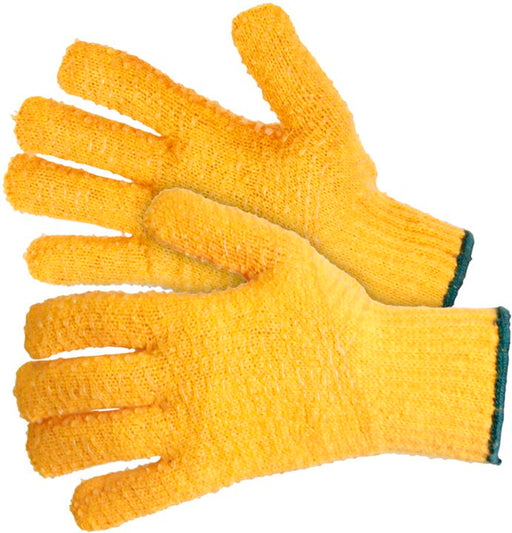 Yellow Kriss-Kross Gripper Gloves (Choose Quantity) - JAR UK Industries