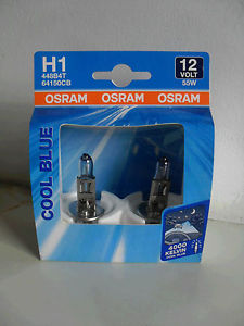 |X| - OSRAM Cool Blue 12v, H1, 55w Single spade fitting - 448 - Twin Pack - JAR UK Industries