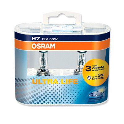 |X| - OSRAM Ultra Life, 12v, H1, 55w Single spade fitting - 448 - Twin Pack - JAR UK Industries