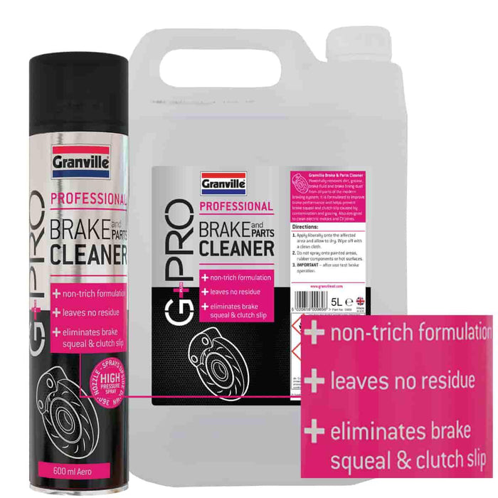 Granville Brake & Parts Cleaner - G+Pro - 600ml - JAR UK Industries