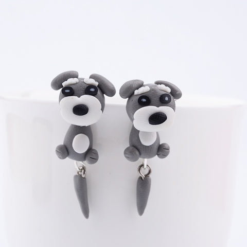 Stud Earrings shaped like dogs