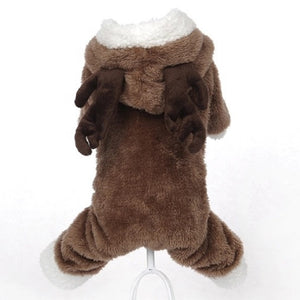 Small Winter Elk Hoodie For Pets