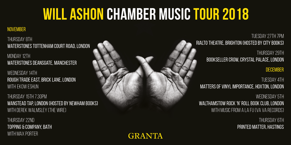 "4th December 2018 - MATTERS OF VINYL IMPORTANCE PRESENTS AN EVENING WITH WILL ASHON  Discussing his latest book. ""CHAMBER MUSIC About The WU-TANG (in 36 chambers pieces)"", 4th December  2018 163 Hoxton Street London N1 6PJ"