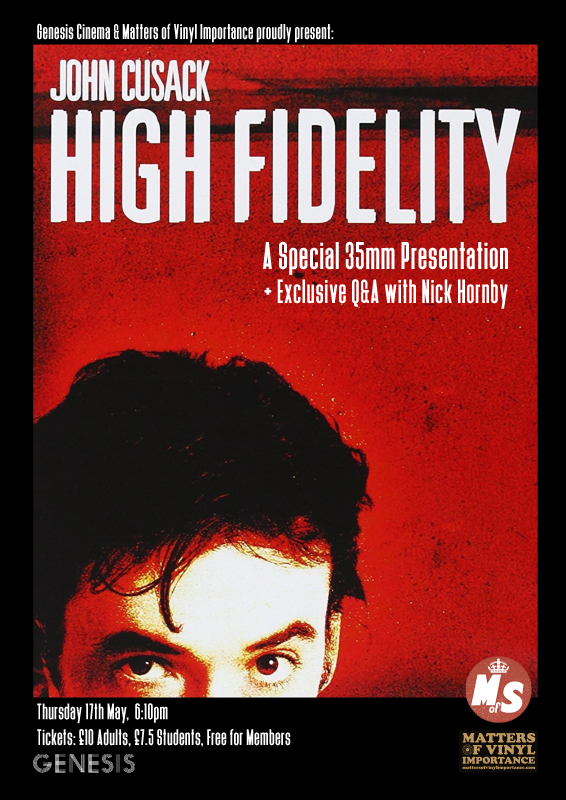 EXCLUSIVE!! - 'High Fidelity' film night with Q&A with Nick Hornby