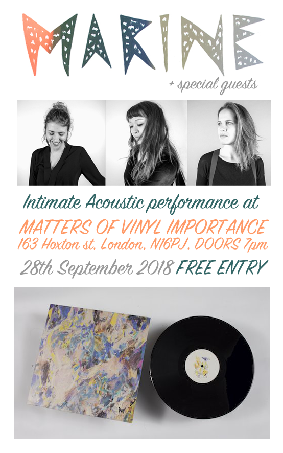 28th September - Marine - An Intimate Acoustic Performance