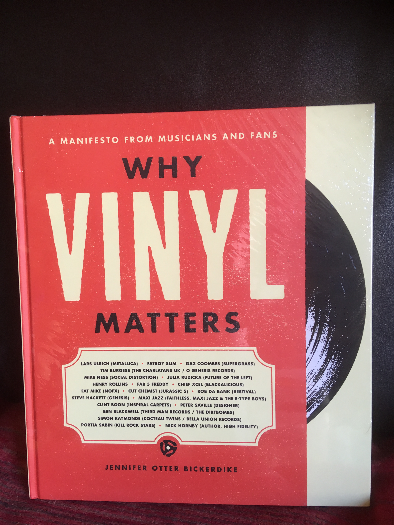 Why Vinyl Matters: A Manifesto from Musicians and Fans Hardcover by Jennifer Otter Bickerdike
