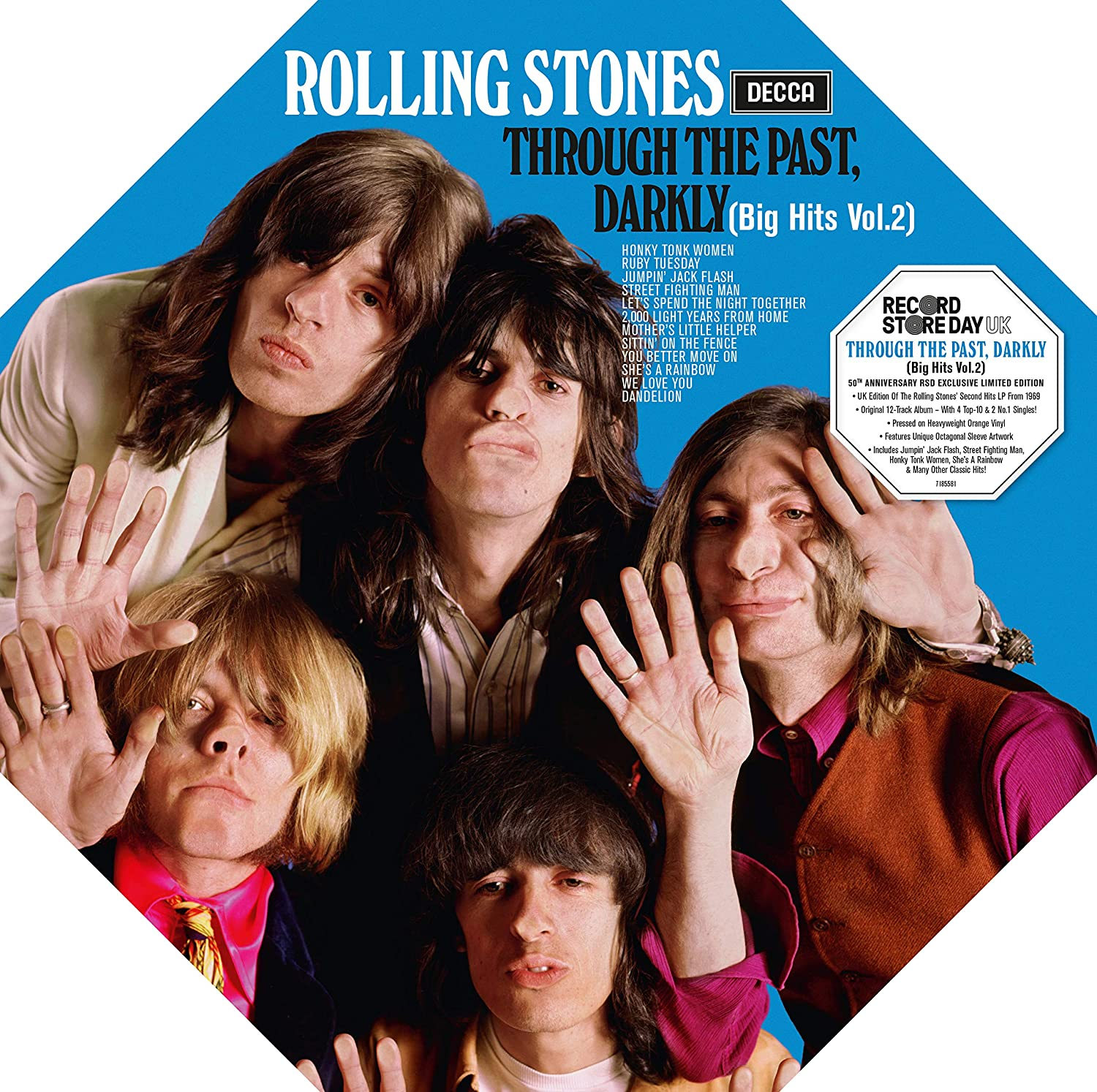 The Rolling Stones - Through The Past, Darkly (Big Hits Vol. 2)180gm Orange Vinyl