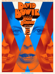 Limited Edition David Bowie - A Clockwork Bowie - Screen Print