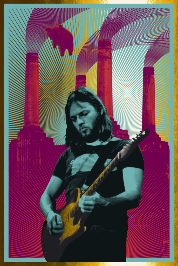 David Gilmour -CARL GLOVER #13/40 (large 24 x 36)