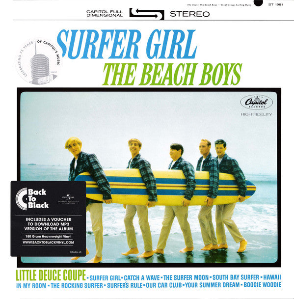 The Beach Boys ‎– Surfer Girl - 'Back to Black' 180 Gram Heavyweight Vinyl