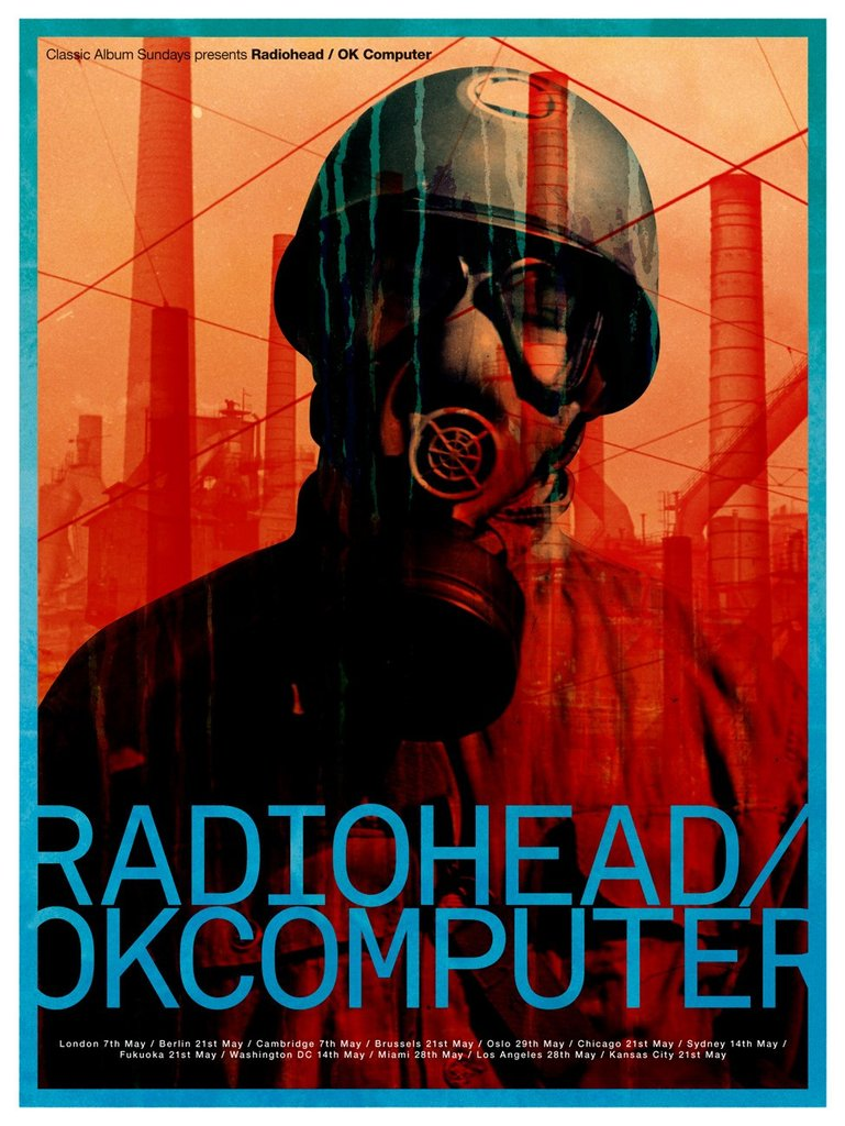 Limited Edition Radiohead Screen Print