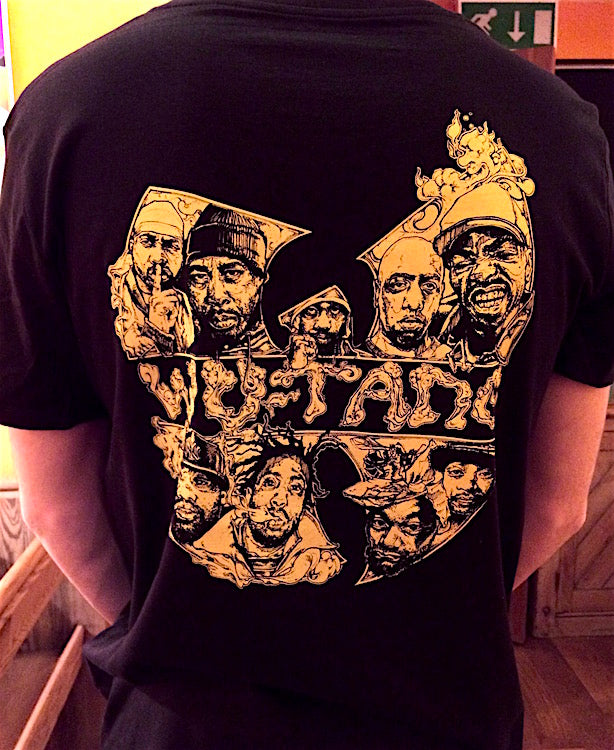 Wu-Tang Clan Illustration on black t-shirt