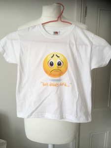 'But Daddy Said' Emoji Kids T Shirt (age 3-4)