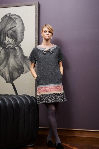 Wool patchwork dress