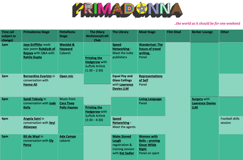 Hanna Ali at Primadonna Festival, program