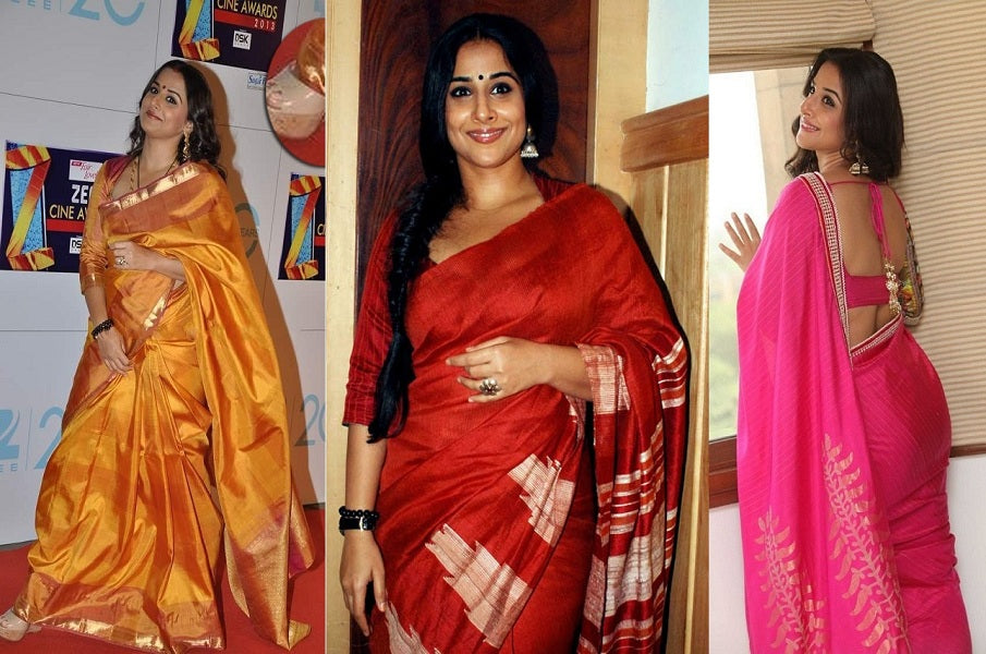 Why Vidya Balan look stunning with simple Indian sarees?