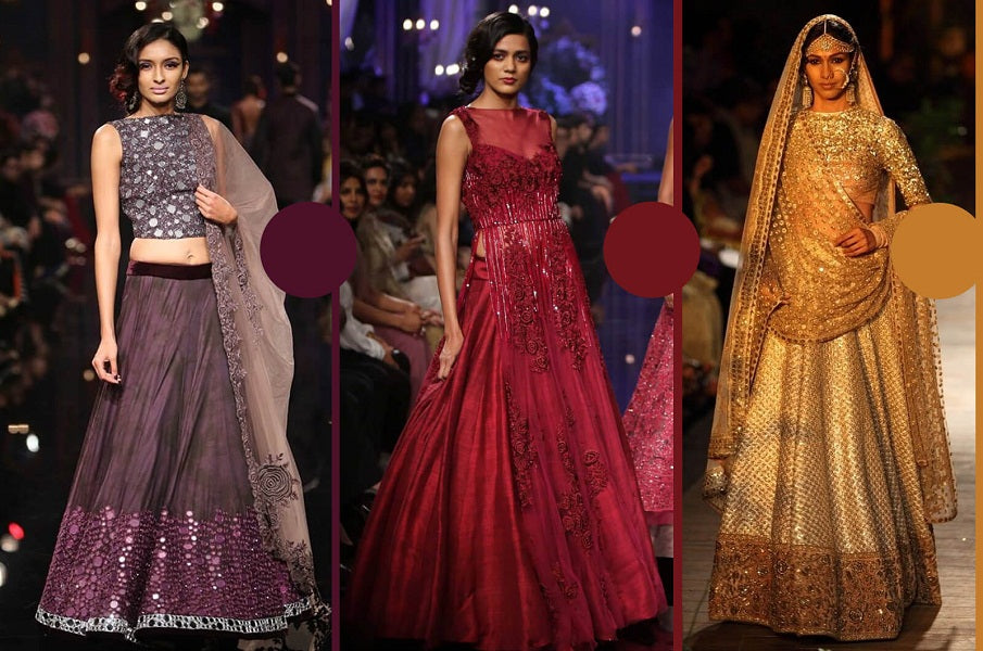 10 Different Types of Indian Bridal Outfits Colour