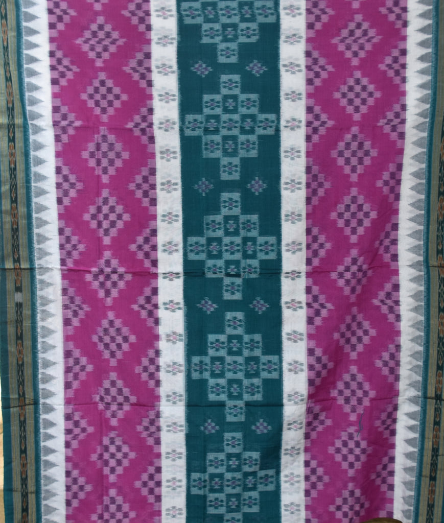 Pasapalli  design Multicolor Ikat Handloom cotton saree of Odisha Nuapatna  AJODI000079