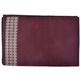 Deep Maroon Handloom Cotton Blouse Piece Material AJODI001948