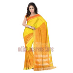 Yellow With Golden Handloom Matka Silk saree of West Bengal AJODI000460