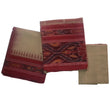 Tusser with Red Handloom Dress Material Set for Lehenga  AJODI000536