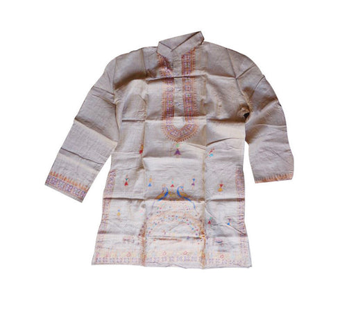 Festival Wear Handloom Patachitra Kurta for Men  AJODI000548