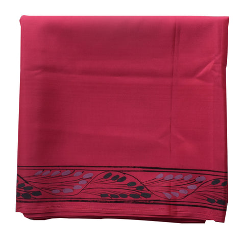 Rani Handpainted Patachitra Synthetic Silk Saree Made in Odisha Raghurajpur AJODI000563