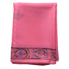 Soft Pink Handpainted Patachitra Synthetic Silk Saree Made in Odisha Raghurajpur  AJODI000569
