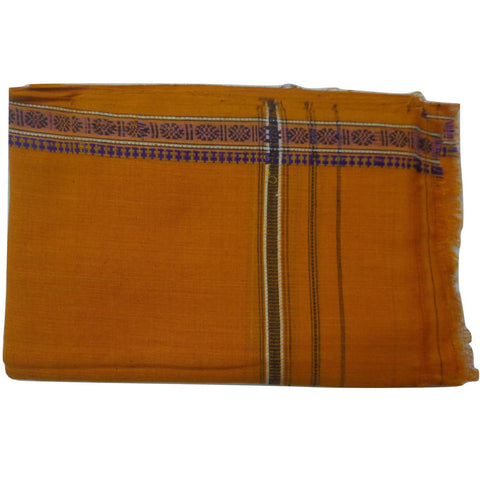 Deep Brown Handloom Cotton Gamcha of Odisha  AJODI000582