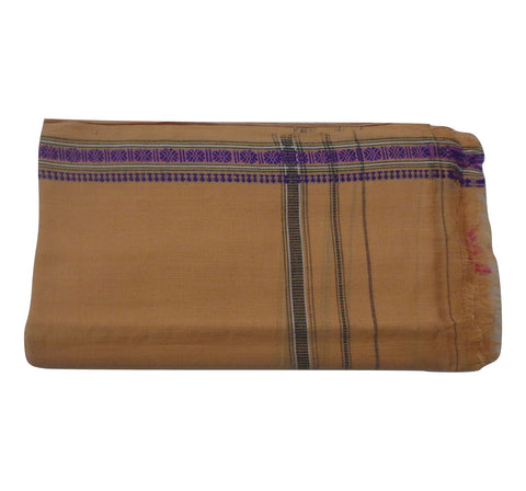 Beige Handloom Cotton Gamcha of Odisha  AJODI000583
