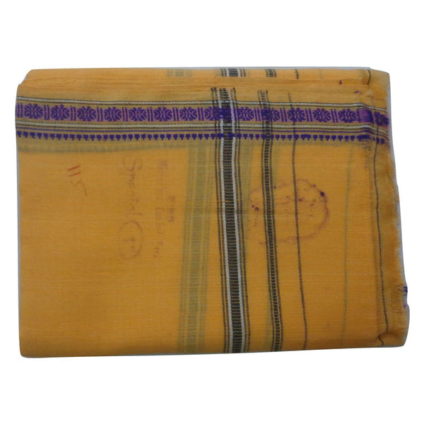 Light Yellow Handloom Cotton Gamcha of Odisha  AJODI000585