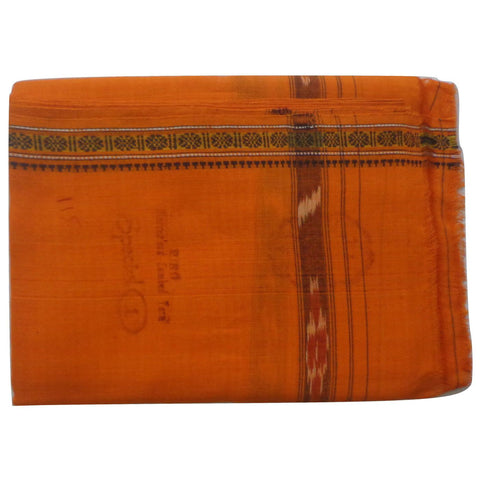 Orange Handloom Cotton Gamcha of Odisha  AJODI000586