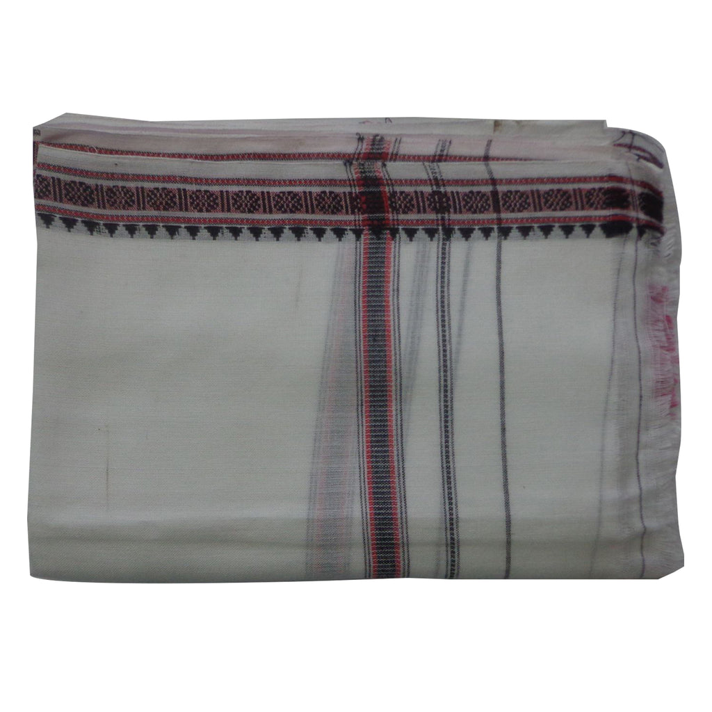 White handloom Cotton Towels of India  AJODI000596
