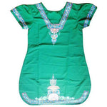 Green Handpainted handicraft Patachitra Cotton Silk Mix  Kurti of Odisha Raghurajpur  AJODI000657