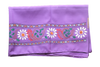 Swastik Design Violet Handpainted Patachitra Synthetic Silk Dupatta Made in Odisha Raghurajpur  AJODI000660
