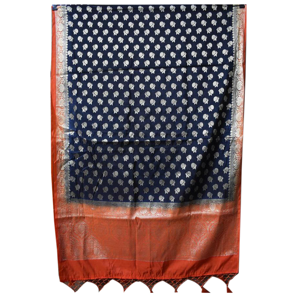 Banarasi Design Handloom Cotton Silk Dupatta of Uttar Pradesh  AJODI000677
