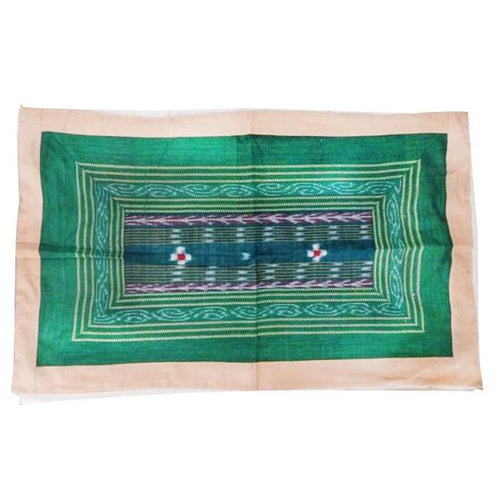 New Design Green with White Handloom Cotton Pillow Cover of Odisha  AJODI000700
