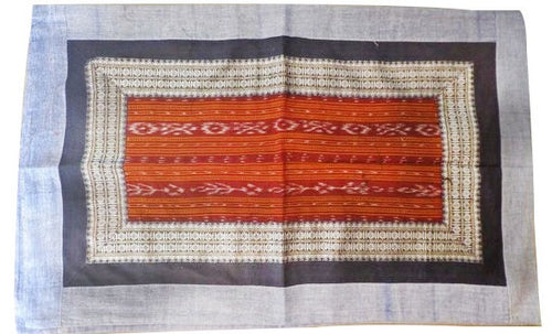 New Design Orange with White Handloom Cotton Pillow Cover Set of Odisha  AJODI000701