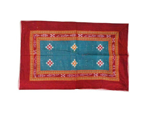 Red with Green Handloom Cotton Pillow Cover of odisha Sambalpur  AJODI000705