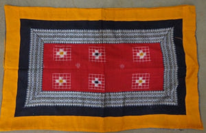 Sambalpuri Design Orange with Red Handloom Cotton Pillow Cover of Odisha Sambalpur  AJODI000706