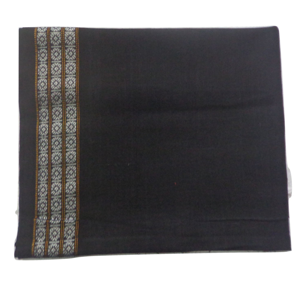 Black Ikat Handloom Cotton Blouse Piece of Odisha  AJODI000731