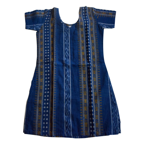 Handloom cotton Kurti for Baby girl AJODI000741 (Size: 18)