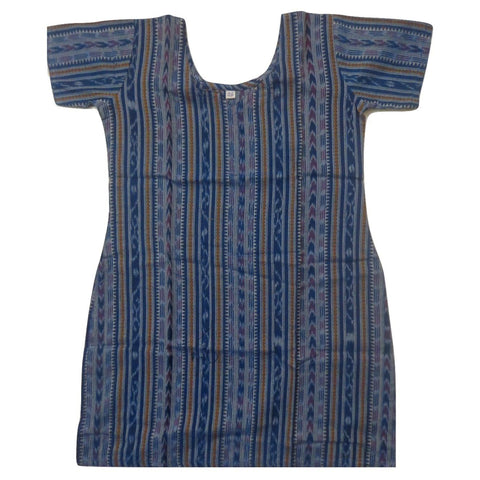 Blue Ikat Handloom Cotton Kurti for Girls of Odisha  AJODI000751