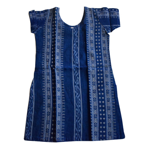 Handwoven Cotton Kurti for Kidswear Girls AJODI000752