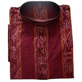 Deep Maroon Ikat Handloom Cotton Kurta of Odisha  AJODI000842 (Size-42)