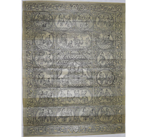 Handicraft Ramayan Patchitra Palm Leaf Engraving Made in Odisha Raghurajpur  AJODI000858
