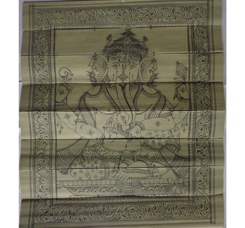 Handmade Lord Ganesh Handicraft Patchitra Palm Leaf Engraving Made in Odisha Raghurajpur  AJODI000863