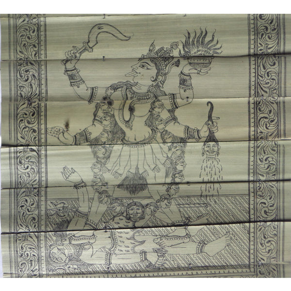 Handmade Maa Kali Patchitra Handicraft Palm Leaf Engraving Made in Odisha Raghurajpur  AJODI000871