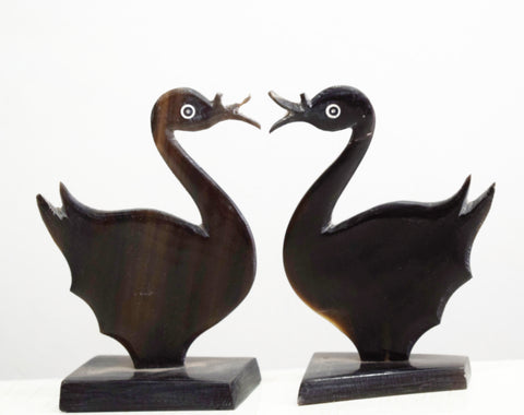 Handmade Swan Design Horn Handicrafts Made in Odisha Dhenkanal  AJODI000875