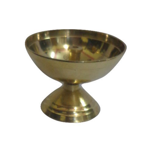Handmade Brass Aarati Puja Diya Handicrafts Made in Odisha   AJODI000888